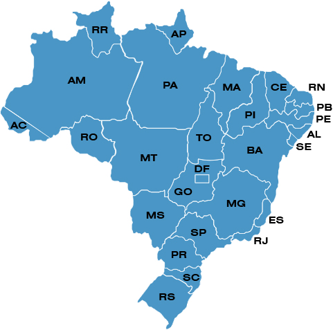 Mapa do Brasil - Alternativa Transportes
